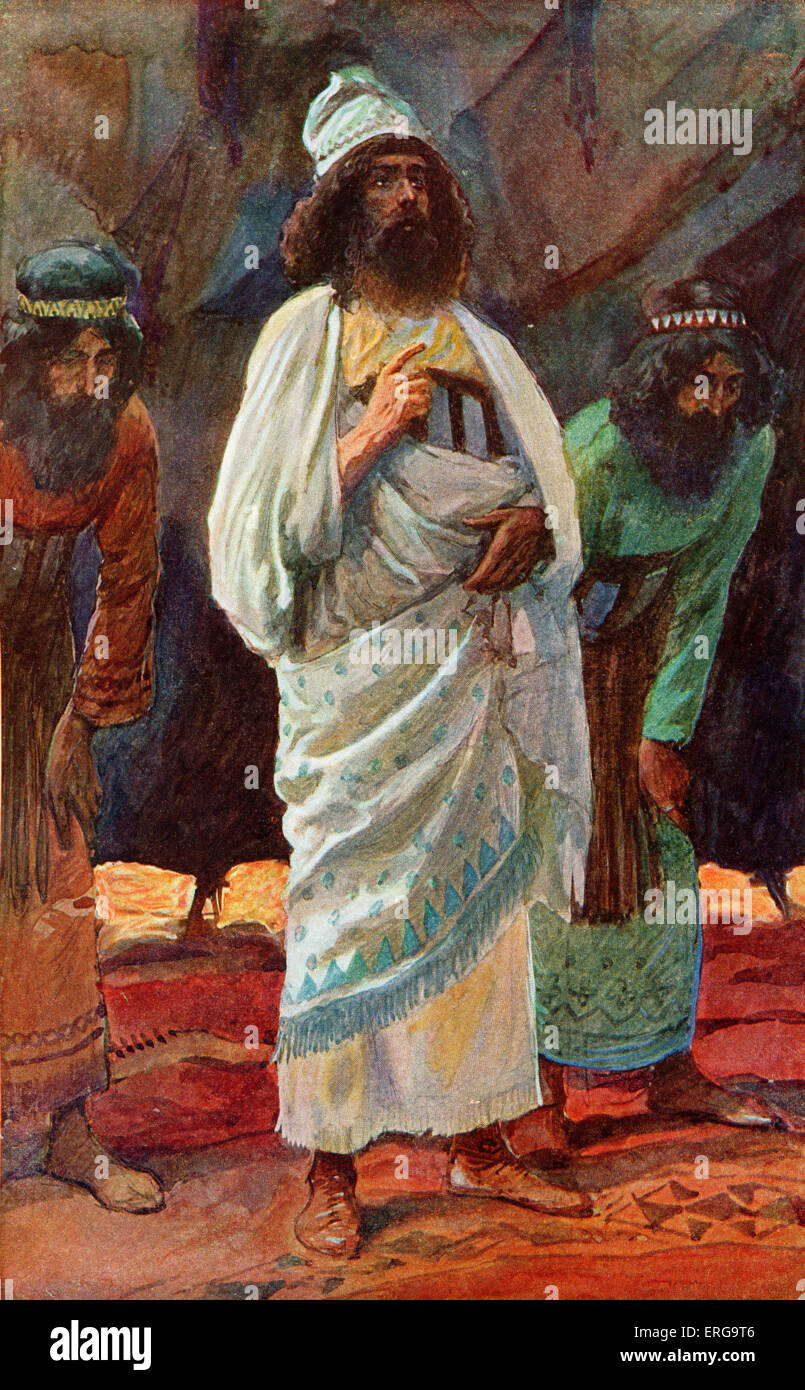 Chiefs of the Army by J James Tissot. Illustration to Book of Chronicles I, 26.30: 'And of the Hebronites, Hashabiah - Stock Image