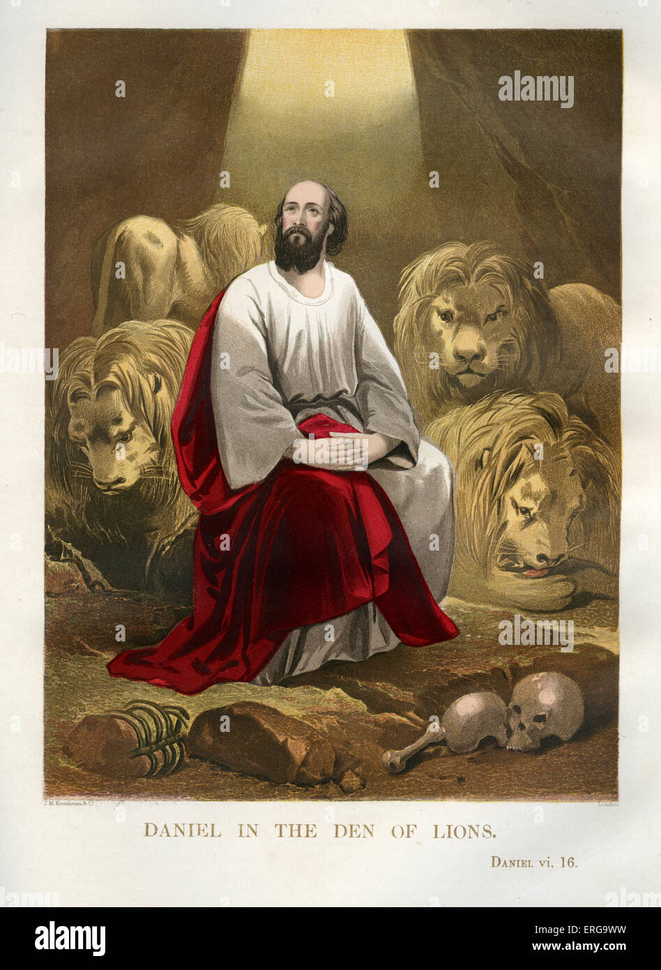 .  Illustration to book of Daniel, Old Testament. - Stock Image