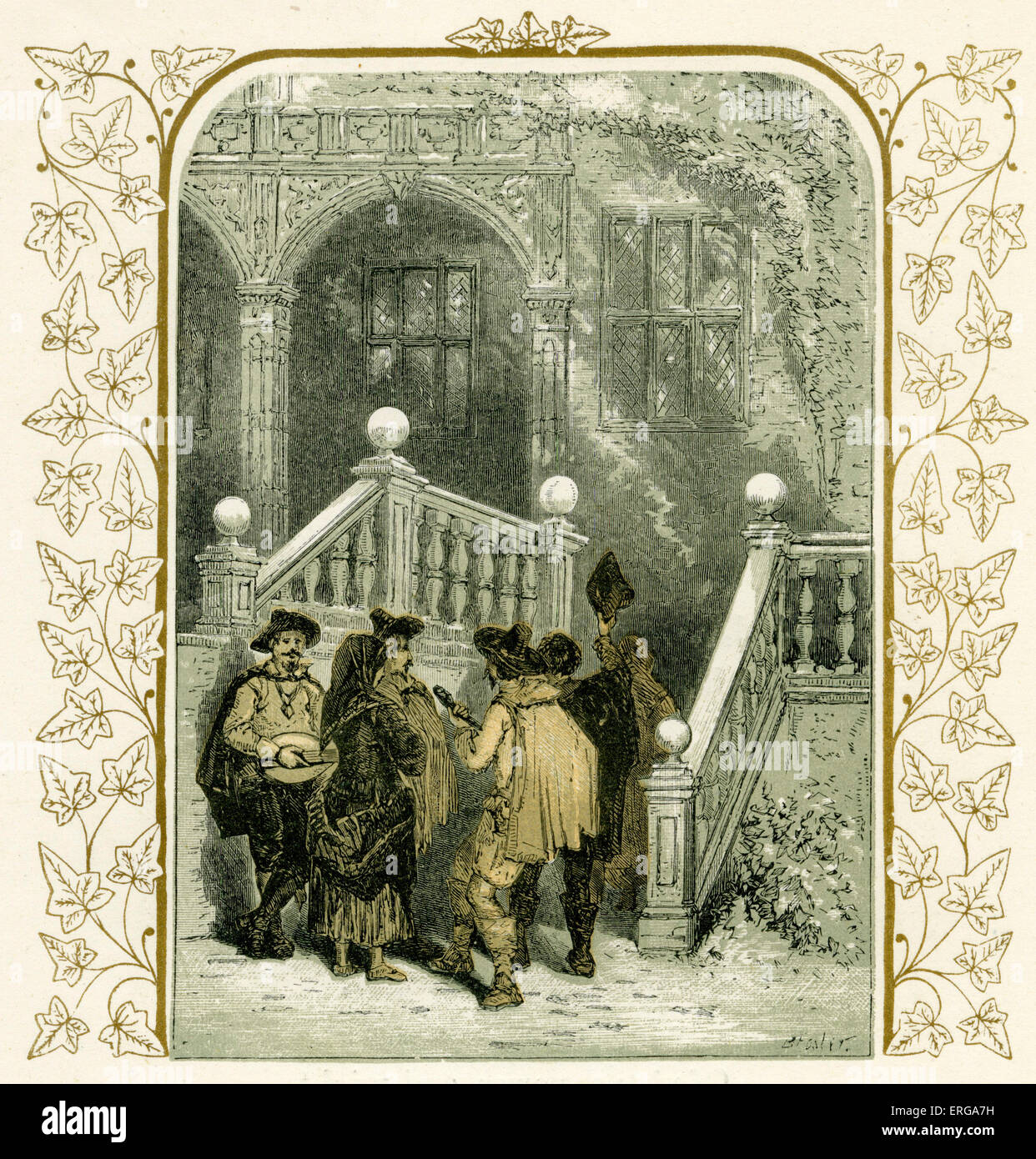 christmas carolers illustration by birket foster 1872 stock image - Christmas Classical Music