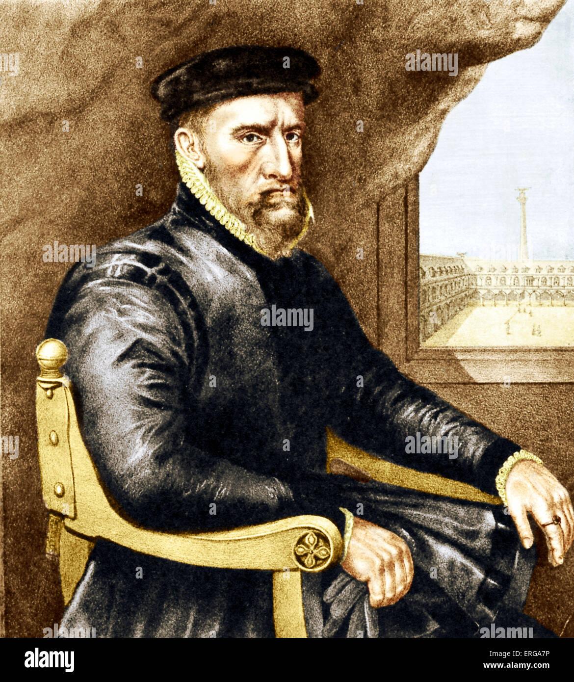Sir Thomas Gresham (1519 – 21 November 1579), English merchant and financier who worked for King Edward VI of England Stock Photo