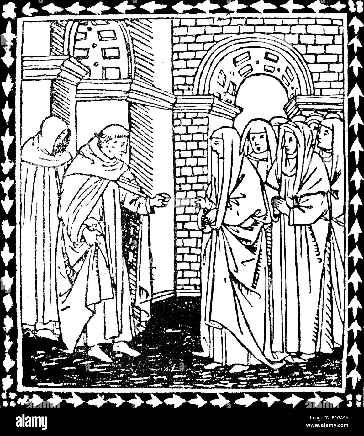 Operetta sopra i dieci comandamenti di Dio - illustration to text by Girolamo Savonarola (c. 1495).GS:  Italian Stock Photo