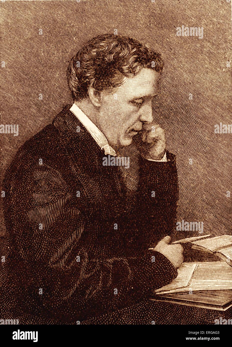 Lewis Carroll, portrait.  British author: b. January 1832 - d. January 1898 - Stock Image