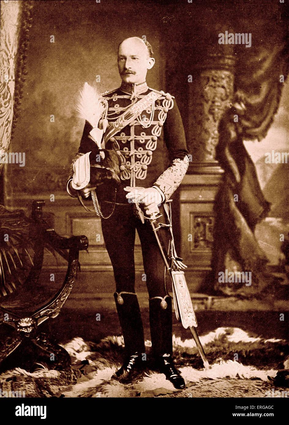 Lieutenant-General Baden Powell, portrait c. 1900. Robert Stephenson Smyth Baden-Powell, 1st Baron Baden-Powell, - Stock Image