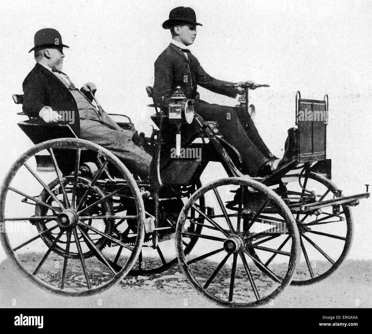 Gottlieb Daimler (17 March 1834 – 6 March 1900) - German pioneer of internal-combustion engines and automobile development; - Stock Image