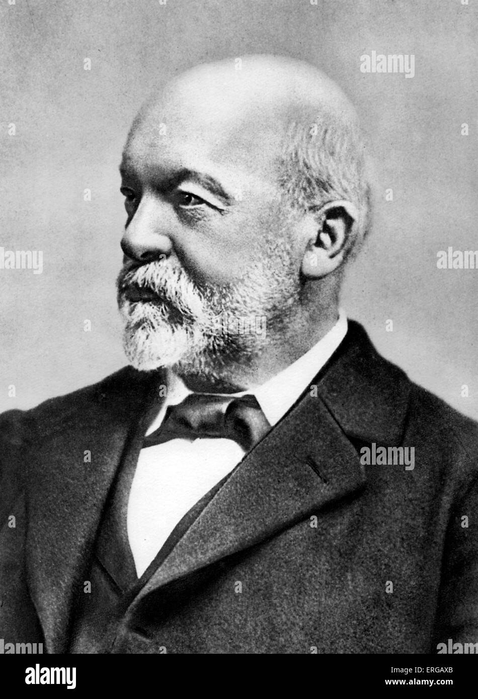 Gottlieb Daimler (17 March 1834 – 6 March 1900) -German pioneer of internal-combustion engines and automobile development; - Stock Image