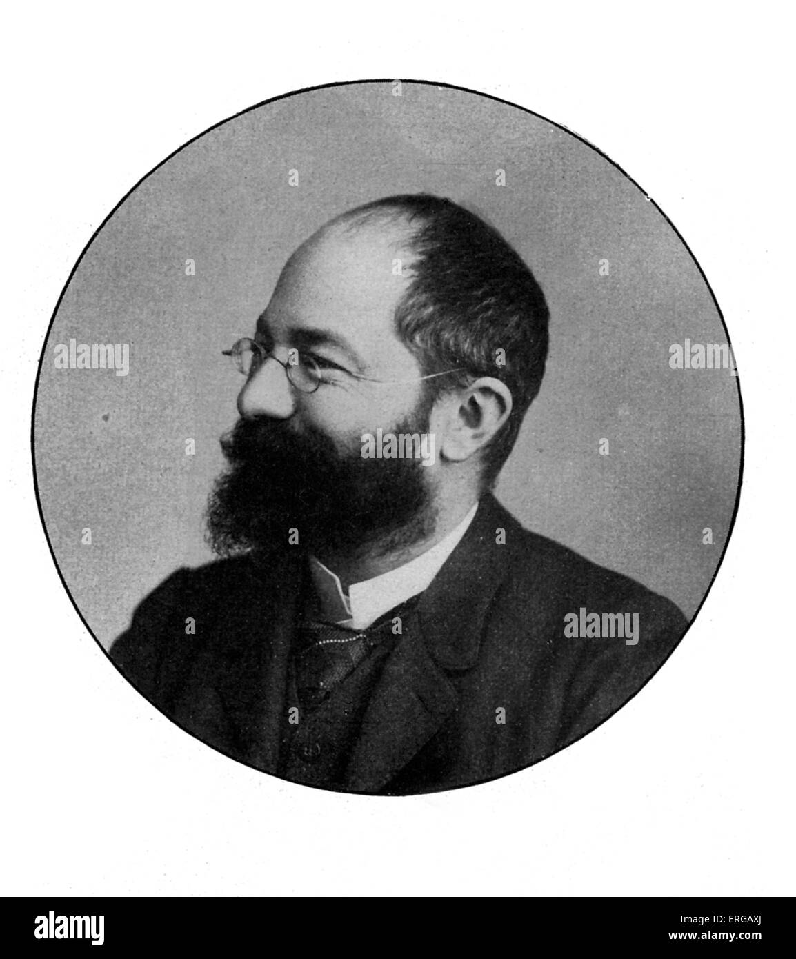 Édouard Michelin  (1859–1940) - French industrialist who, with his brother André (1853-1931), founded - Stock Image