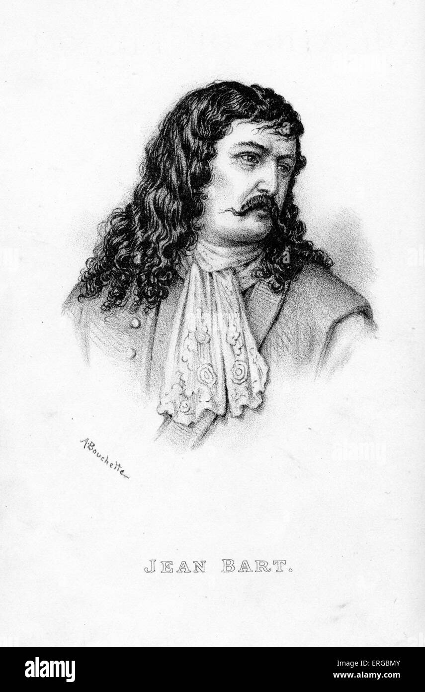 Jean Bart, portrait. Flemish sailor, served the French crown as naval commander and privateer. JB: 21 October 1651 - Stock Image