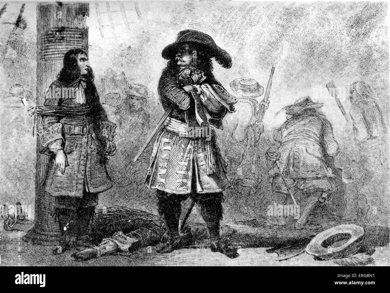 Jean Bart, Flemish sailor, served the French crown as naval commander and privateer. JB: 21 October 1651 – 27 April - Stock Image