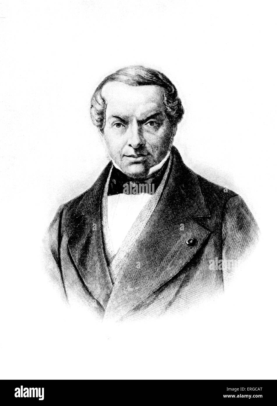 James Baron von Rothschild (1792–1868), from a painting. - Stock Image