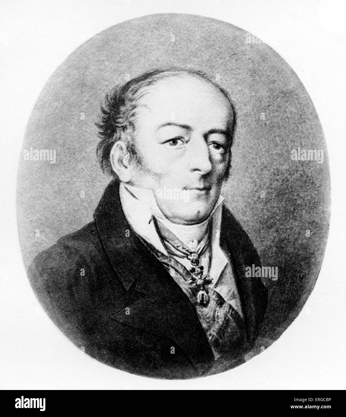 Johann Philipp Count von Stadion (1763 – 1824) after the portrait by Perger. - Stock Image