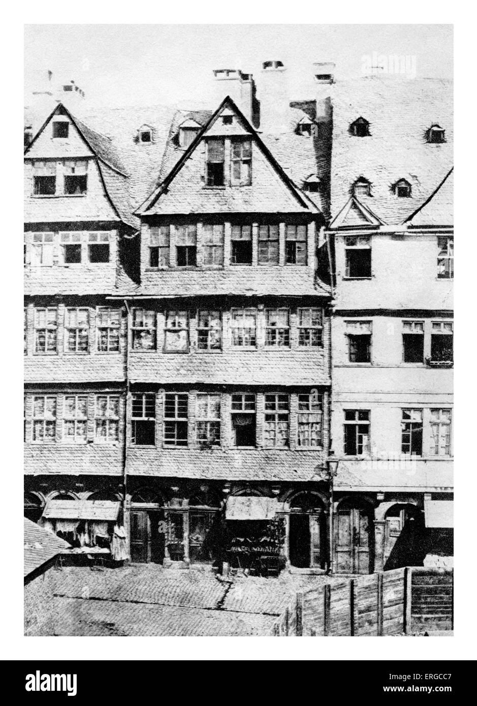 Ancestral home of the Rothschild Family in Frankfurt am Main. - Stock Image