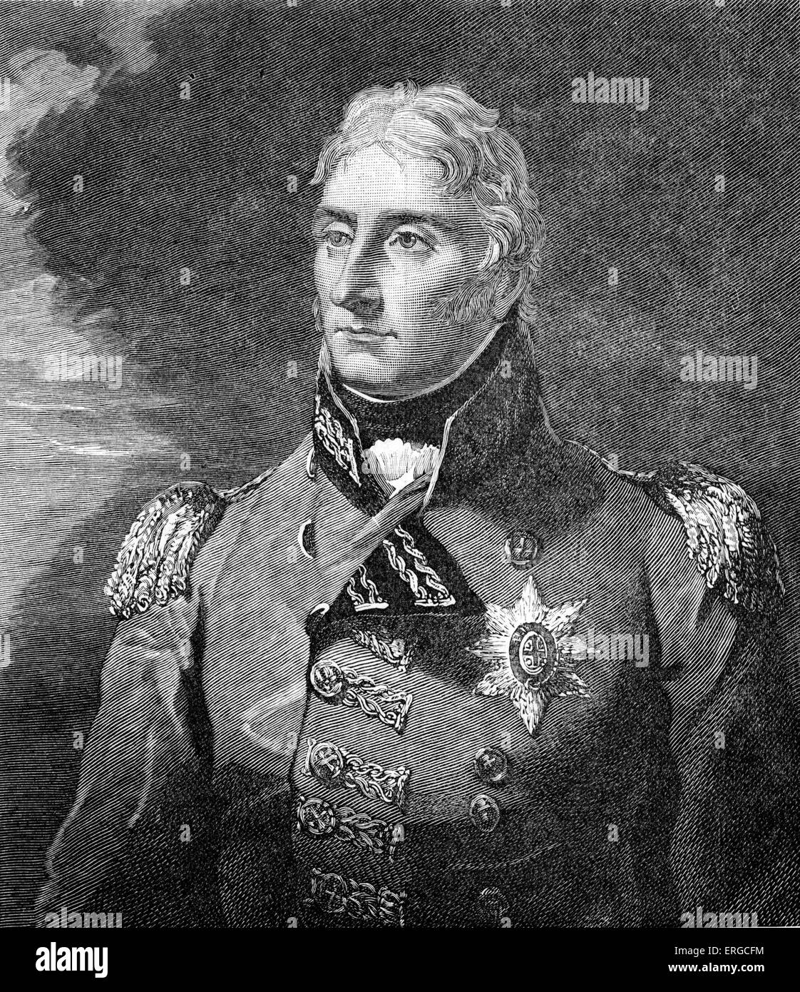 Sir John Moore - portrait. British lieutenant-general in the British Army, noted for his reforms to military training - Stock Image