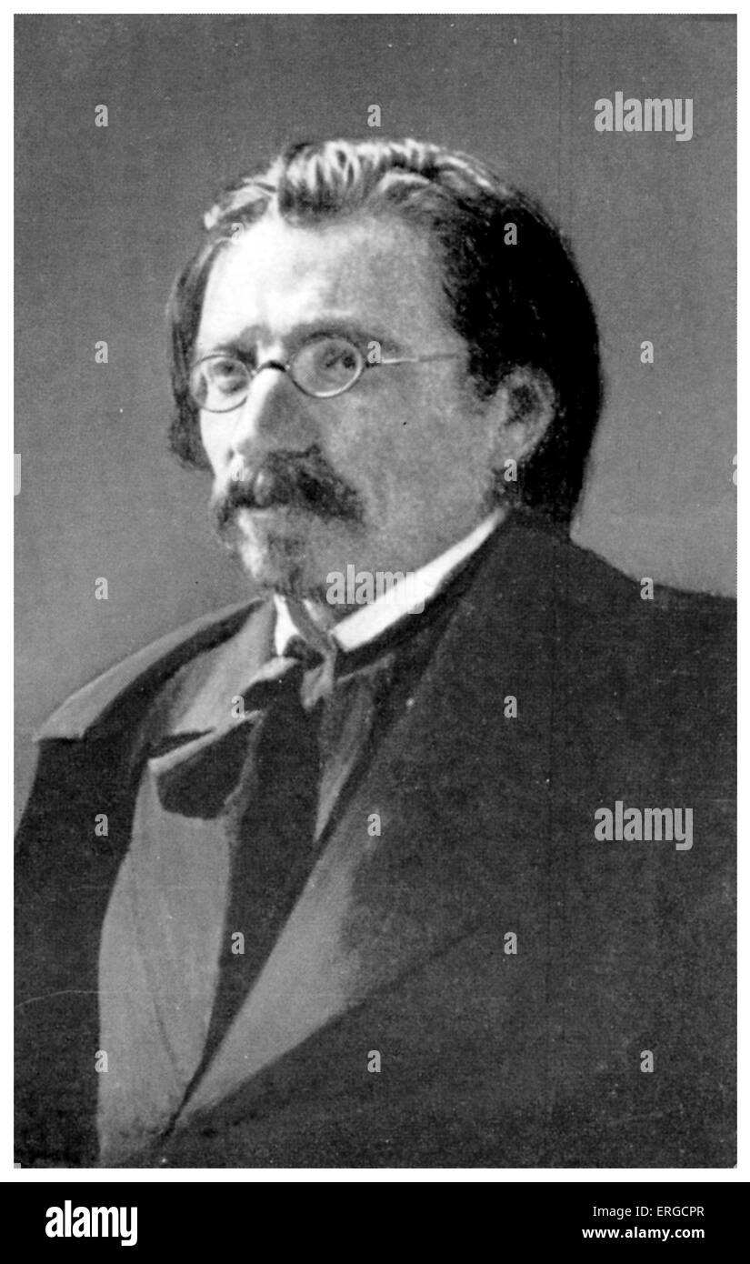 Sholem Aleichem in London, 1906. ( Solomon Naumovich Rabinovich) . Yiddish author and playwright. The musical Fiddler - Stock Image