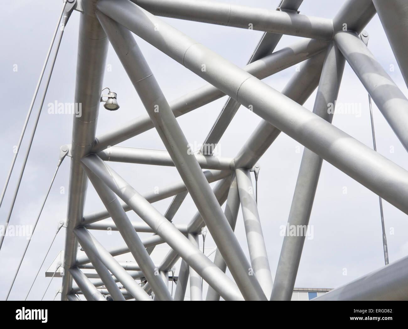 'Akrobaten', the Acrobat imposing and creative footbridge in Oslo Norway awarded the European Award for - Stock Image
