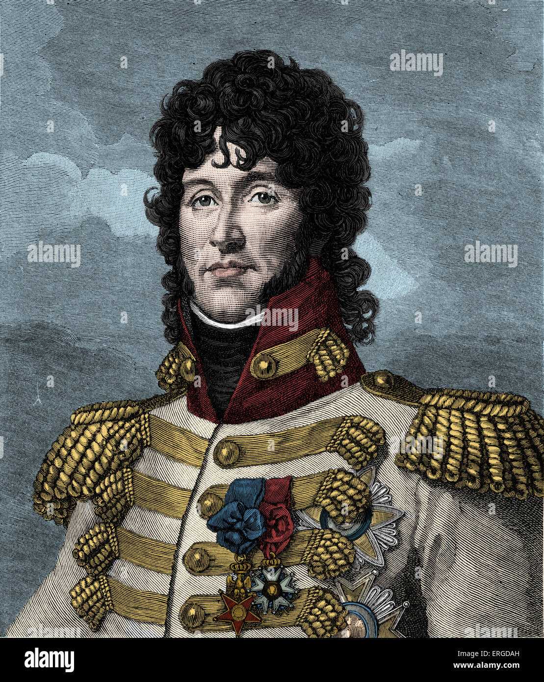 Joachim Murat, King of Naples - after portrait by Gerard. Marshal of France and brother-in-law of Napoleon Bonaparte. - Stock Image