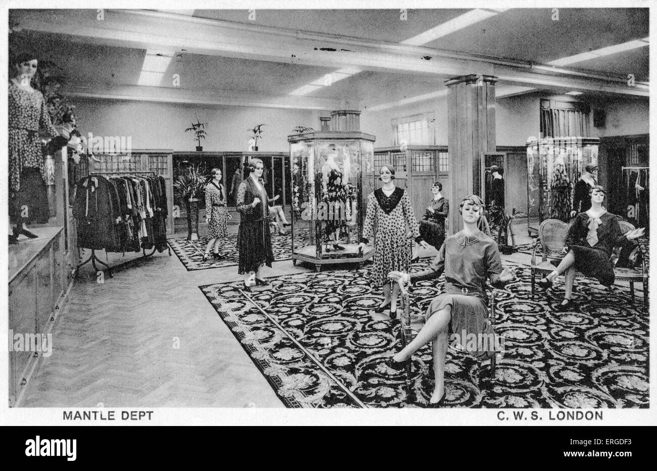 The Mantle Department at CWS, London, c.1933. Also known as the Co-operative Wholesale Society, which later became - Stock Image