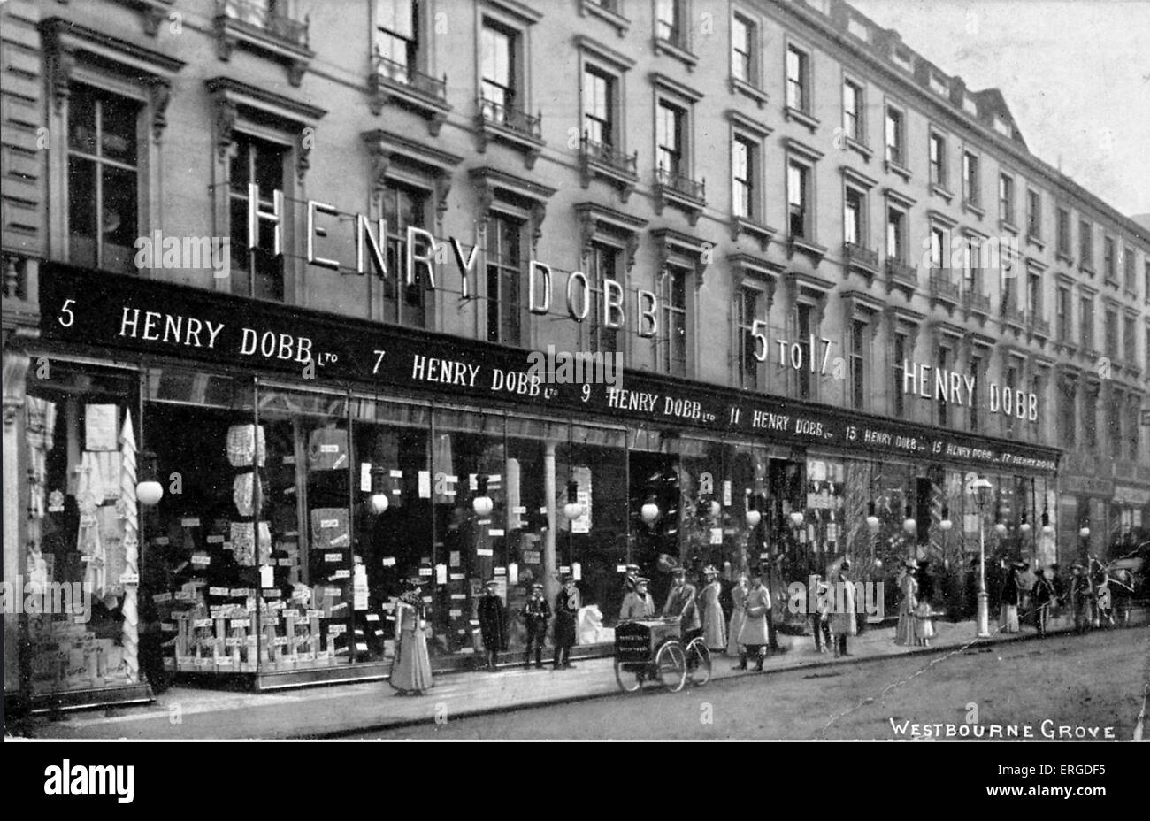 Henry Dobb Ltd Department Store. Westbourne Grove, London. - Stock Image