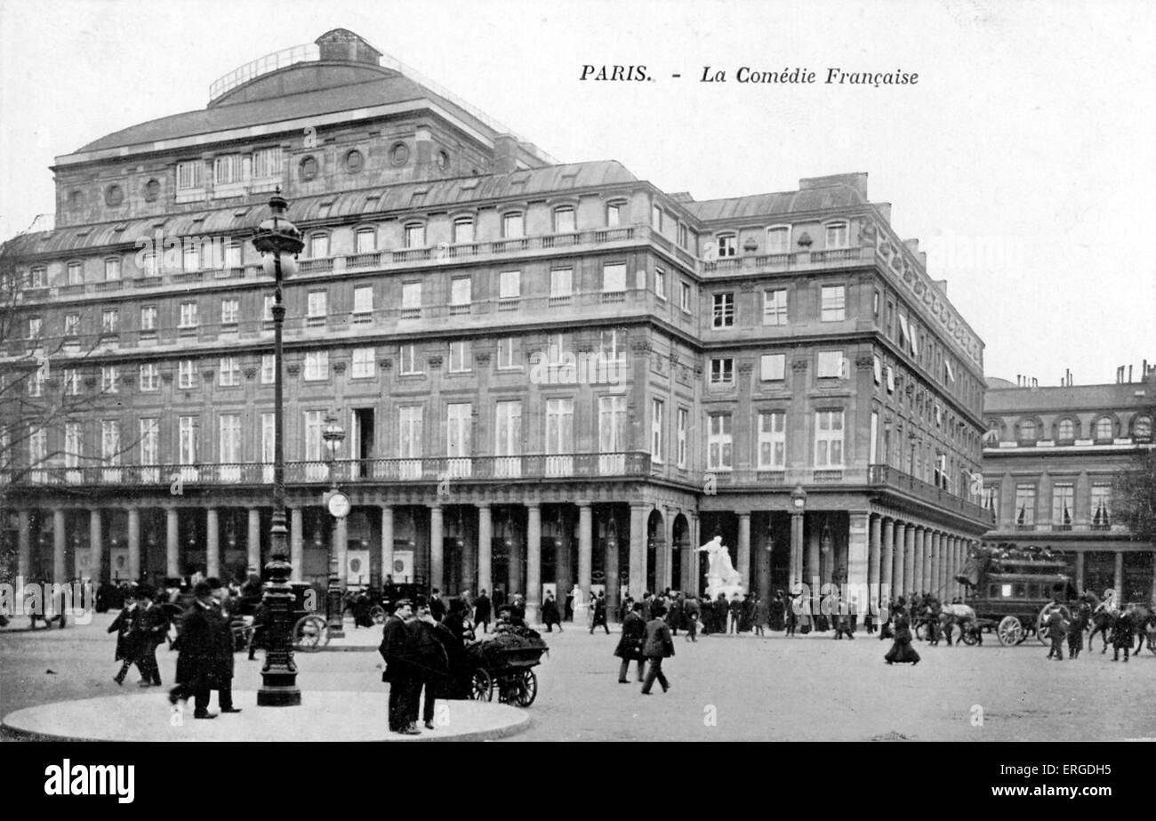 La Comédie Francaise, Paris, c. 1900. A state theate of France. - Stock Image