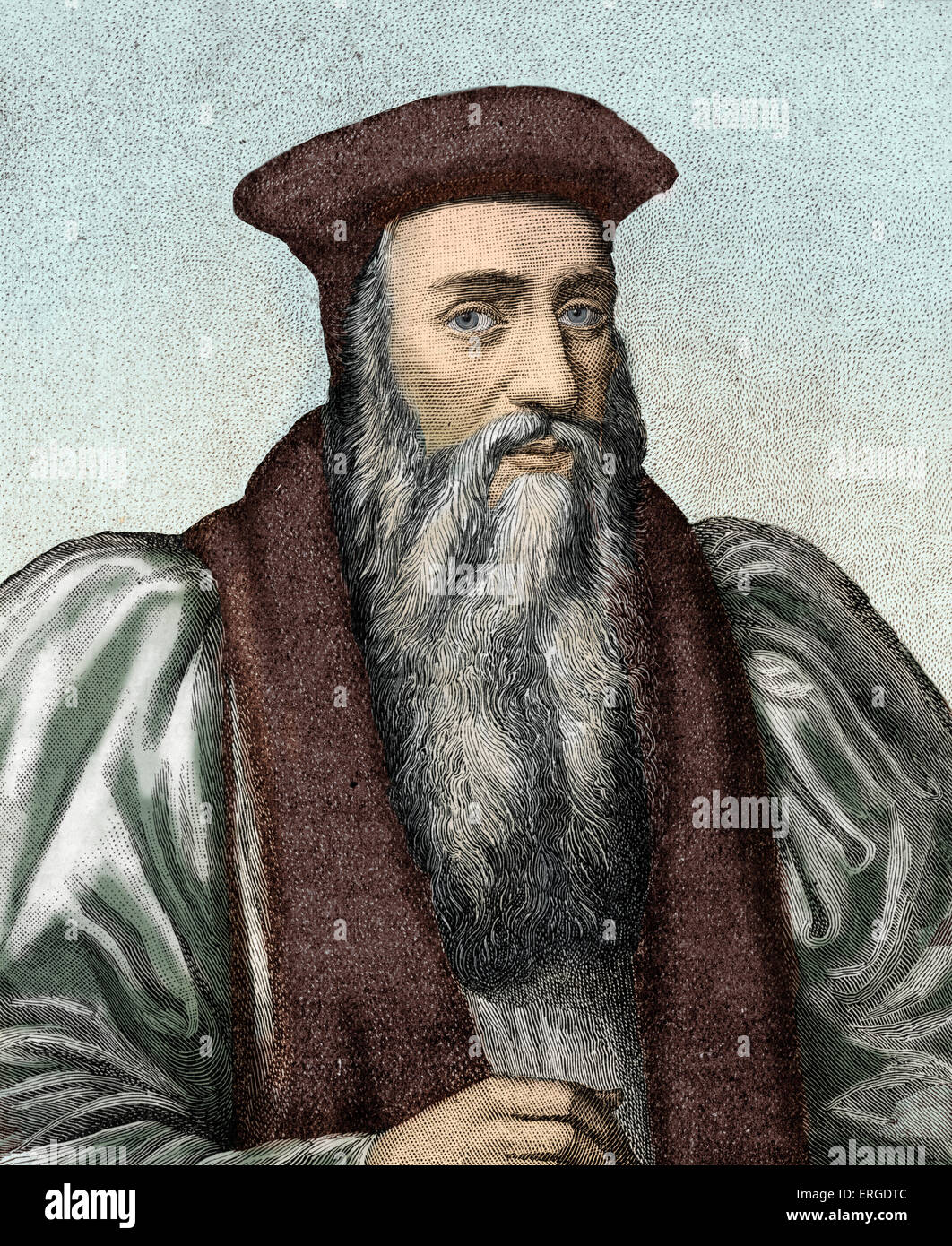Archbishop Thomas Cranmer. Protestant reformer and Archbishop of Canterbury during the reigns of Henry VIII, Edward - Stock Image
