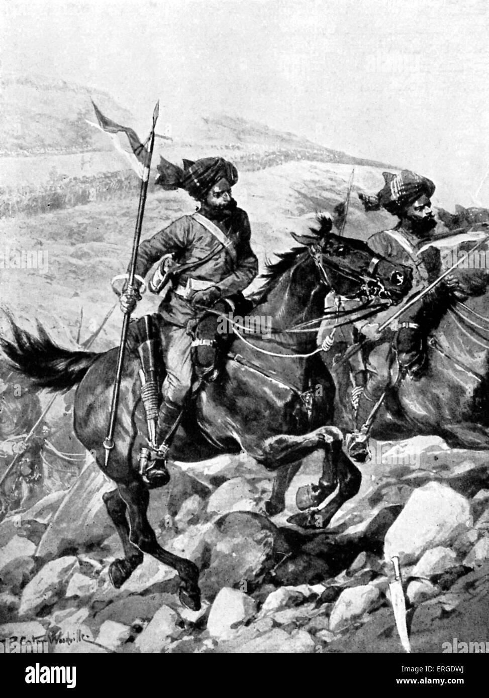 Bengal Lancers of the British India Army - during 1897 there was a series of attacks on British forces along the - Stock Image