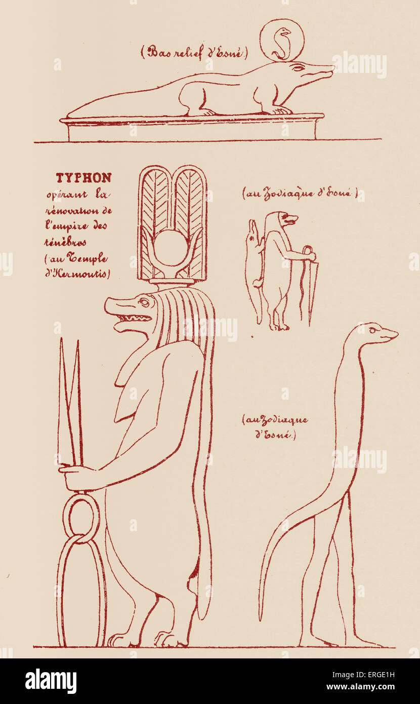 Egyptian Symbols Of Typhon From Illustration By Eliphas Lvi