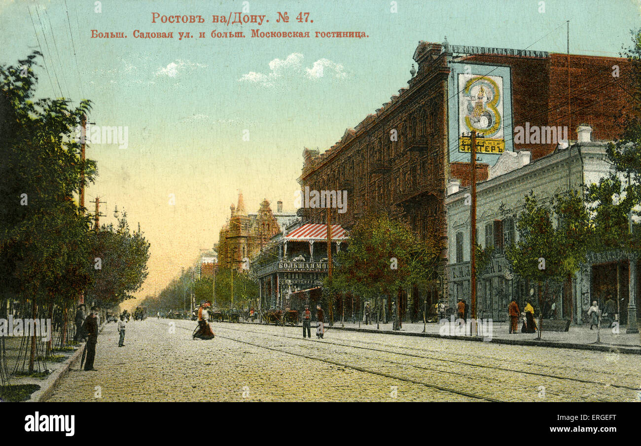 Rostov, Russia c. 1900.Town in Yaroslavl Oblast. - Stock Image