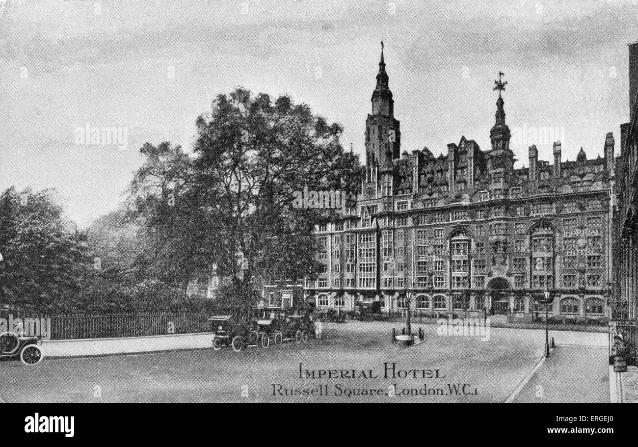 Imperial Hotel, Russell Square, London. Early 20th century. - Stock Image