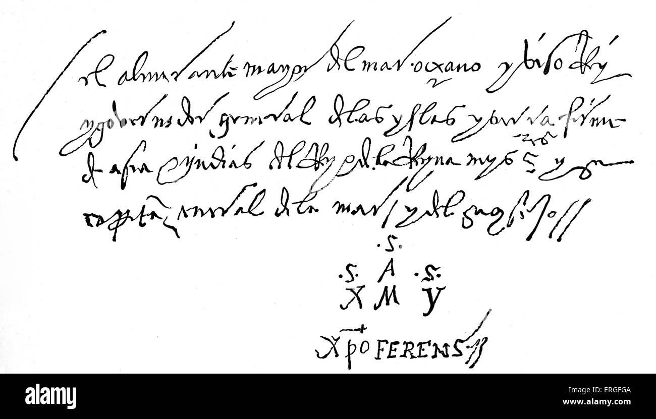 christopher columbus letter with autograph dated a dos dias de abril 1502 april 1502 addressed from seville to noble