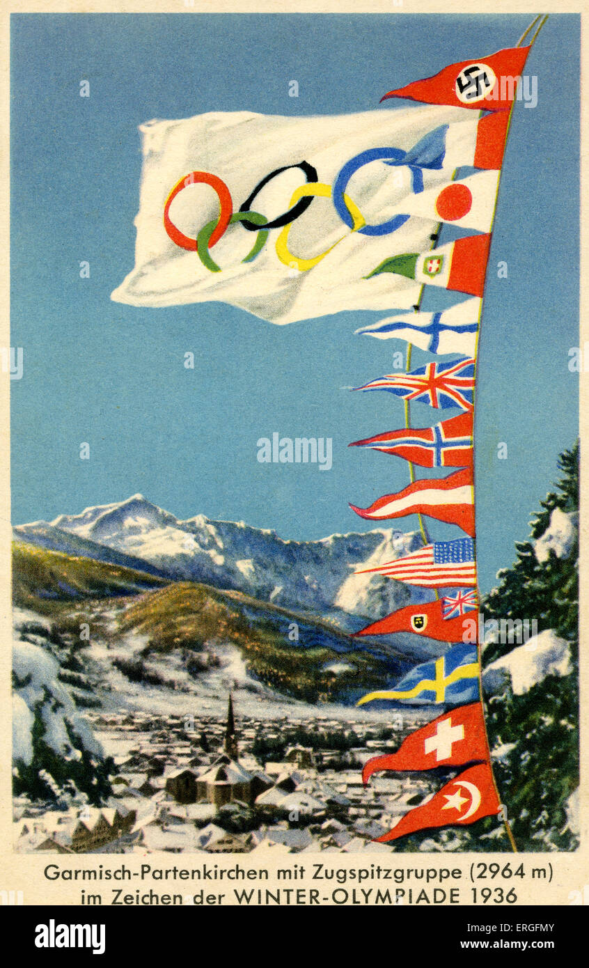 Winter Olympics 1936 Germany Olympics symbol of interlinking Olympic
