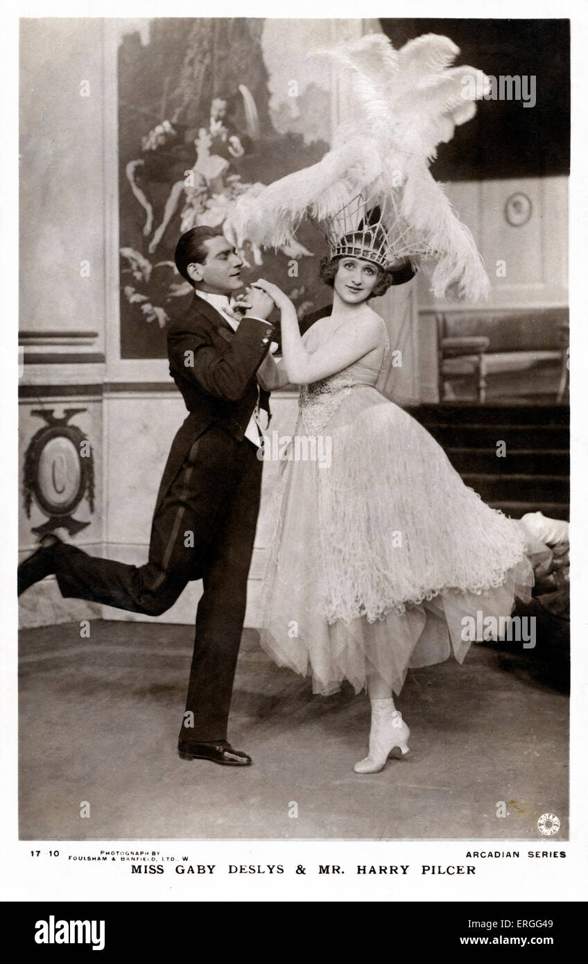 Gaby Deslys and Harry Pilcer dancing c. 1910s. GD: French -born dancer, singer and actress. 4 November 1881 – 11 - Stock Image