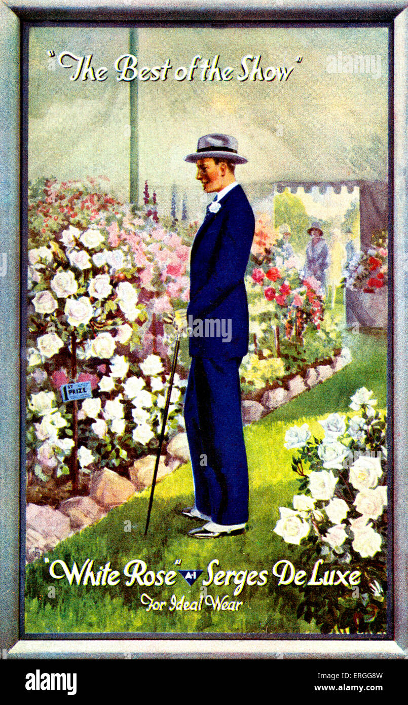 Serge De Luxe 's 'White Rose' - early 20th century advertisement. Caption: 'The Best of the Show' - Stock Image