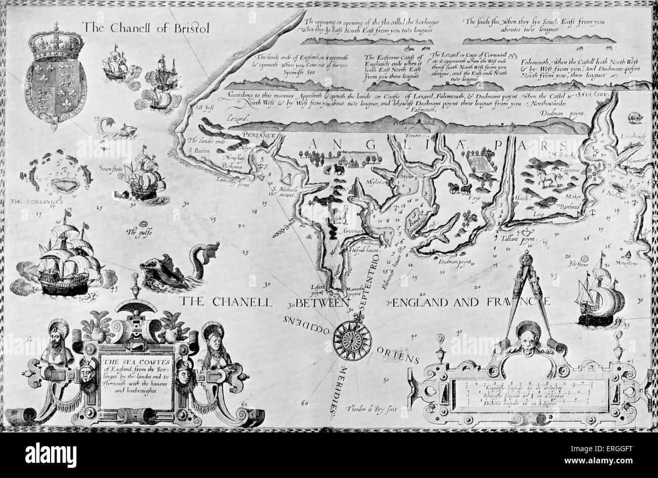 South England Map Stock Photos South England Map Stock Images Alamy