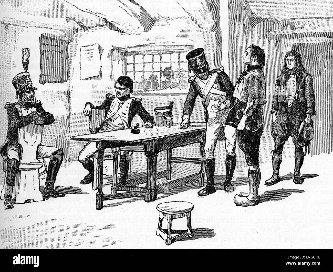 Conscription in France for Napoleon's Wars.Napoleonic Wars, series of wars declared against Napoleon I 's - Stock Image