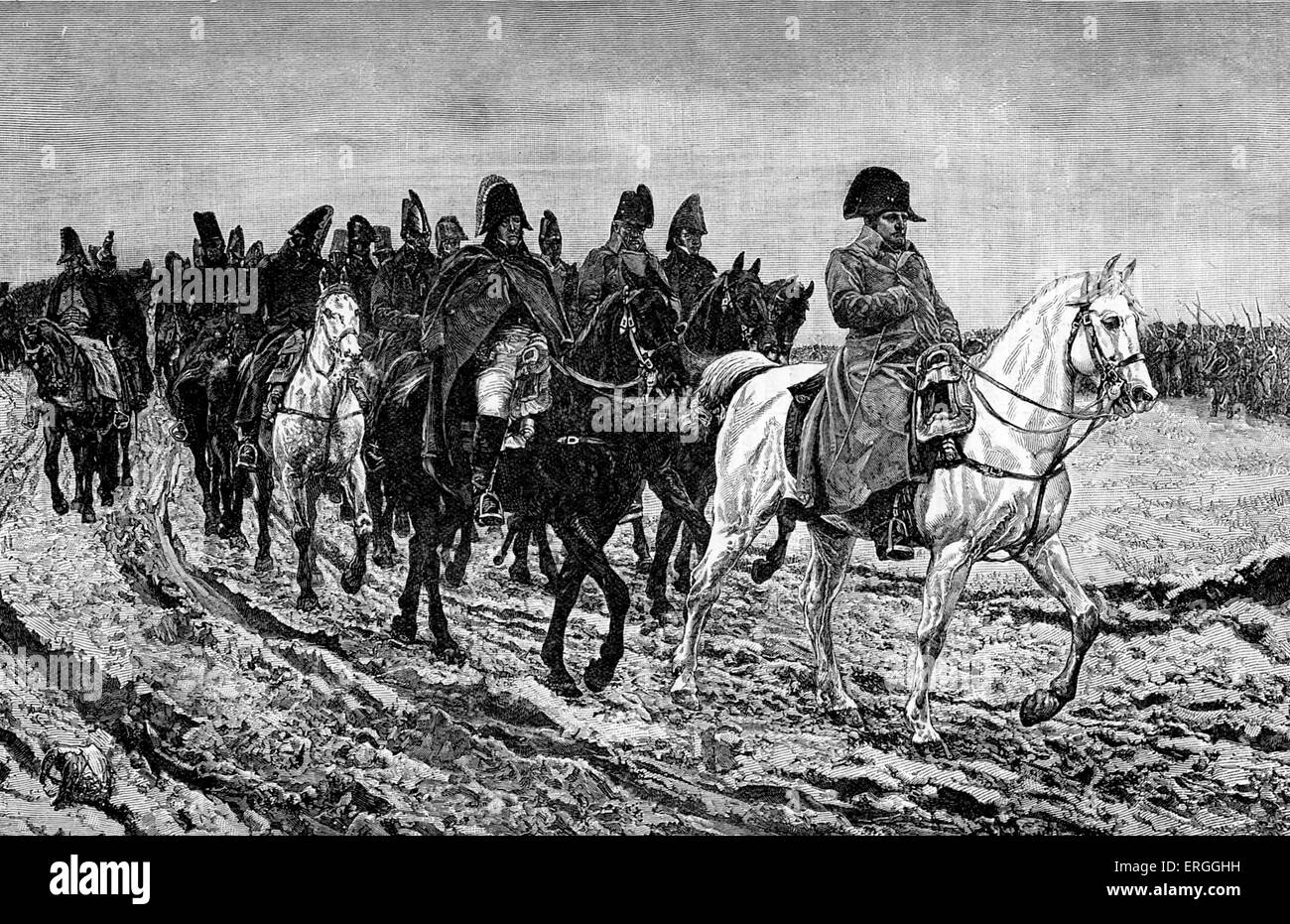 French invasion of Russia of 1812 : The retreat from Moscow. 24 June – 14  December 1812. During the Napoleonic Wars.