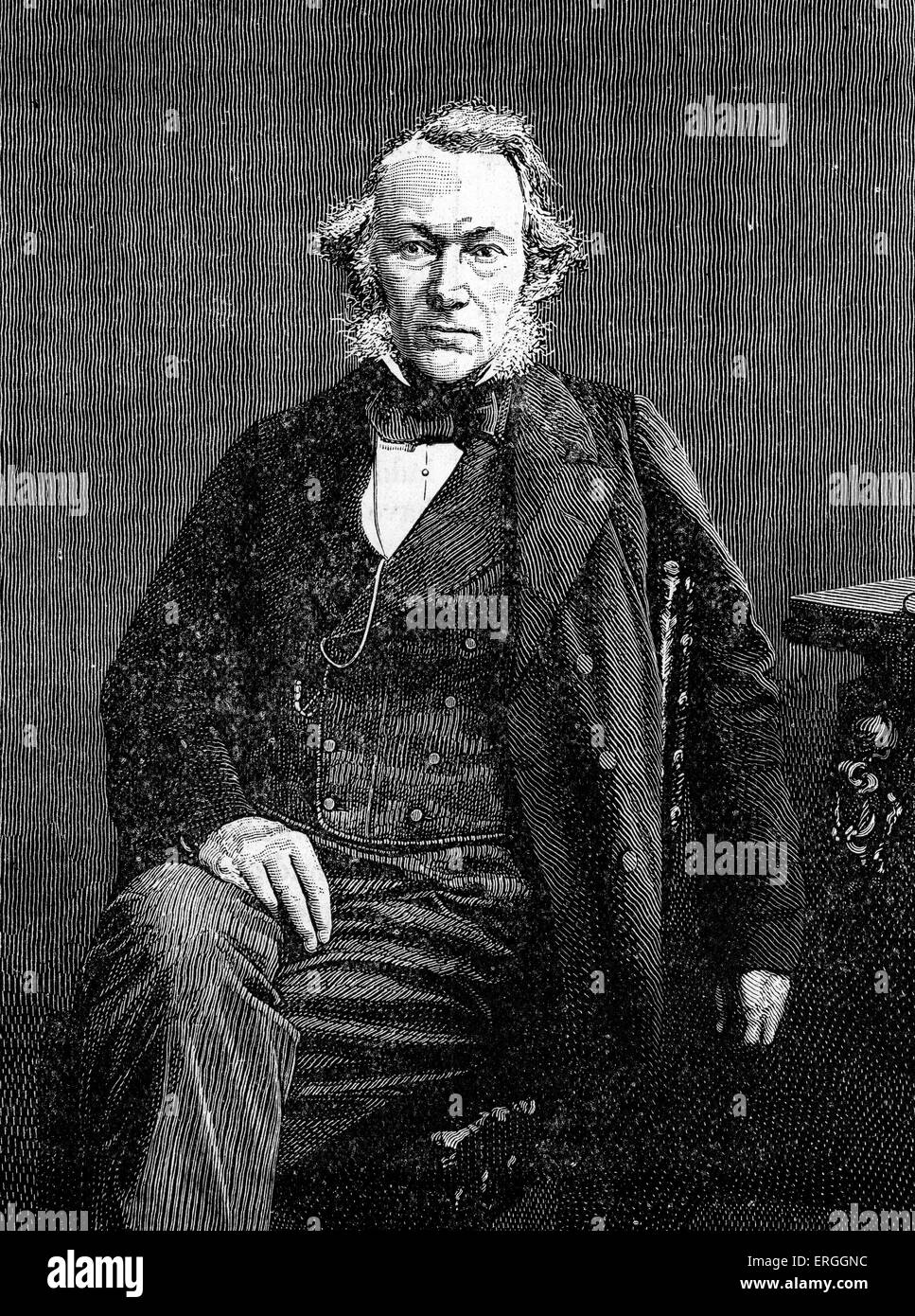 Richard Cobden - portrait. British manufacturer and Radical and Liberal statesman, associated with formation of - Stock Image