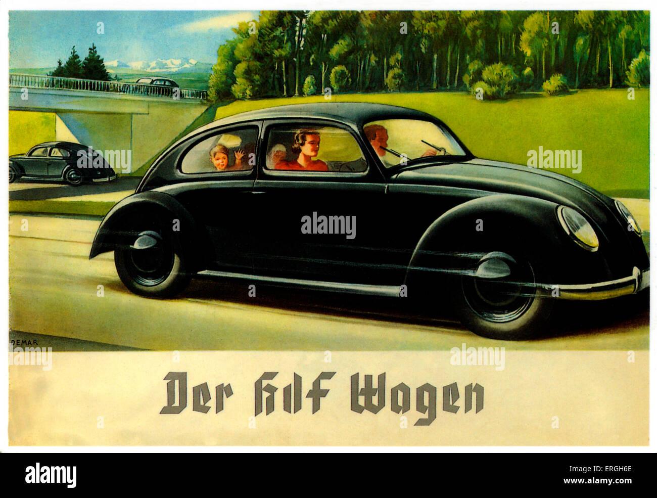 Volkswagen Advertisement 1930s Caption Der Kdf Wagen