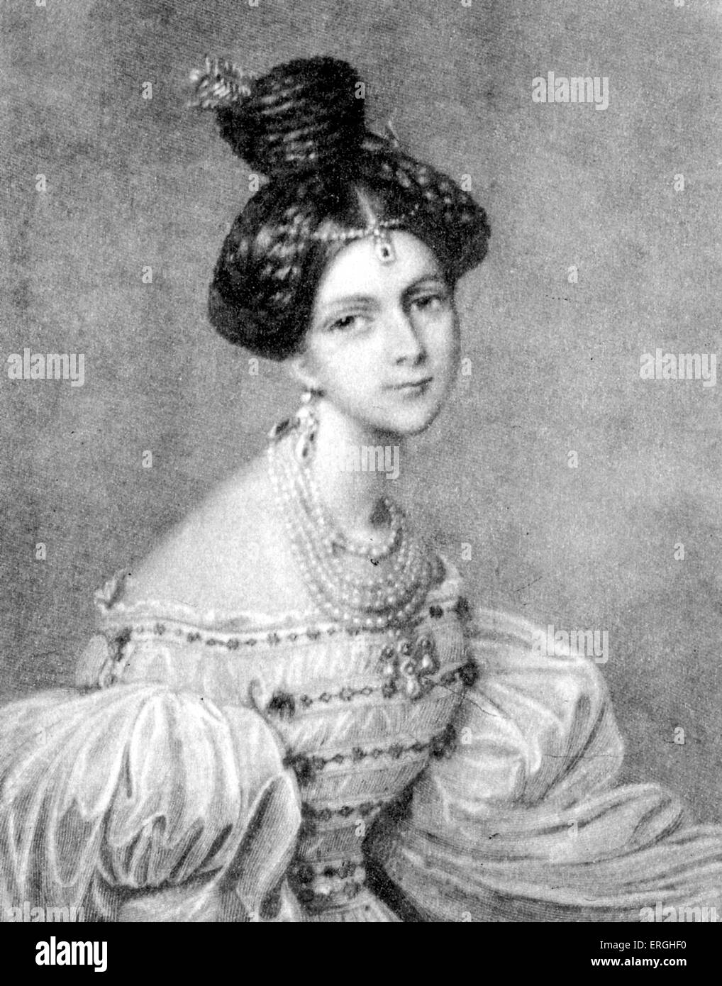 Eliza Radziwill - Polish-Lithuanian aristocrat, 1803 - 1834. Chopin connection. - Stock Image