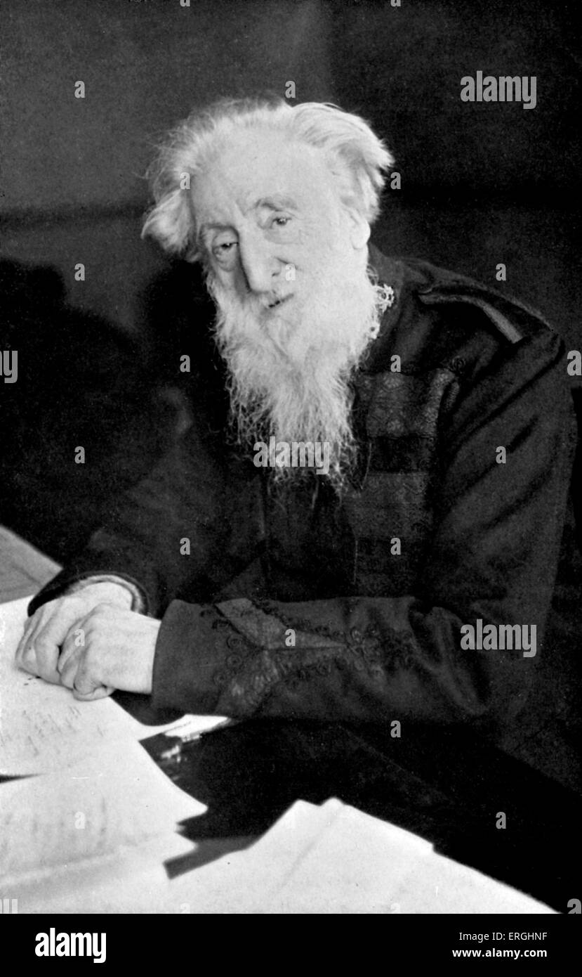 William Booth - portrait. British Methodist preacher and  founder of The Salvation Army - became its first General - Stock Image