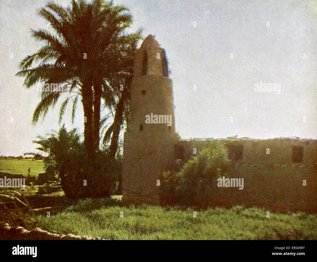 Mosque at Medamut (suburb of Thebes), Egypt. Photograph from 1923 book. - Stock Image