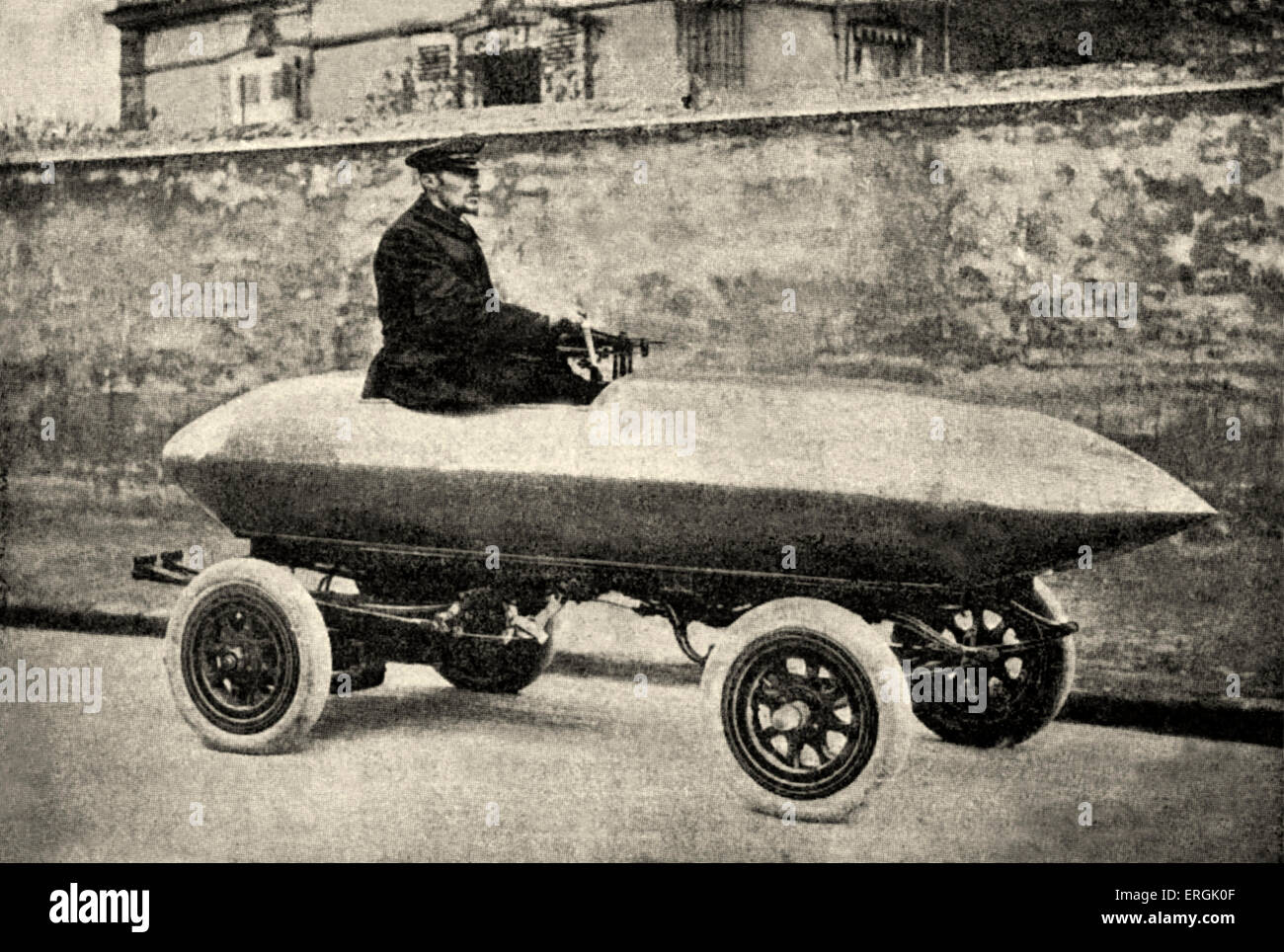 Electric racing car with Rothschild bodywork in partinium (aluminium alloy). - Stock Image