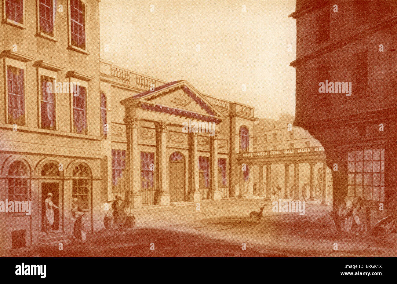 grand pump room bath from drawing published in bath illustrated by a