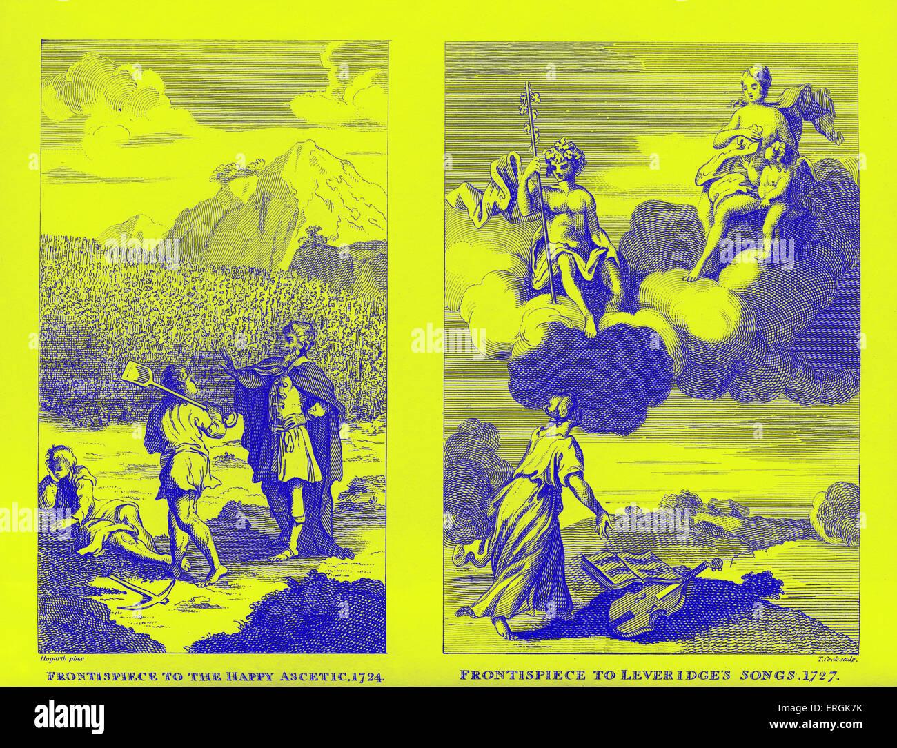 Leveridge 's songs' frontispiecey by William Hogarth 1727 WH:  English painter, printmaker,   satirist, - Stock Image
