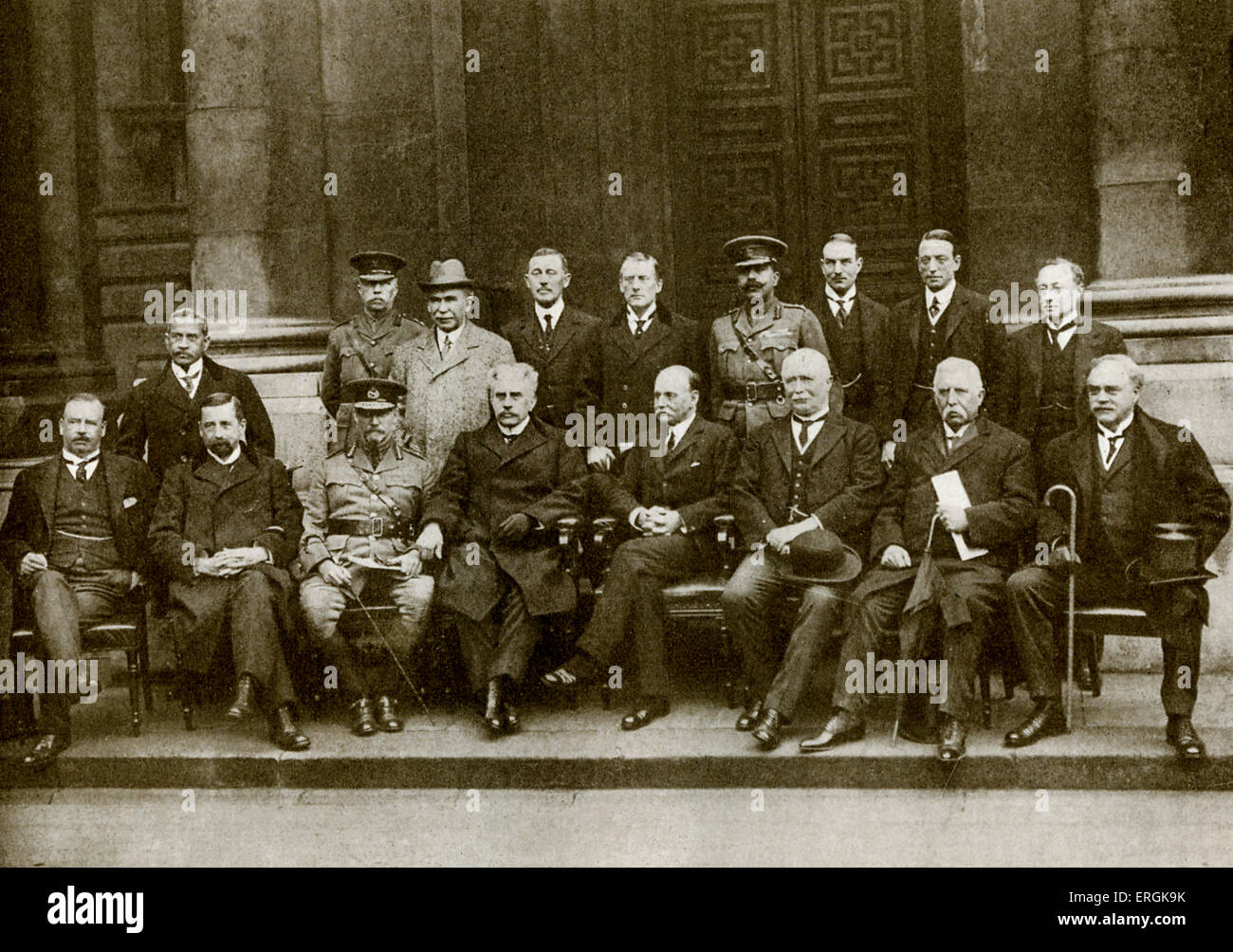 Overseas representatives attending the Imperial War Conference in Downing Street, London, spring 1917. Among them - Stock Image