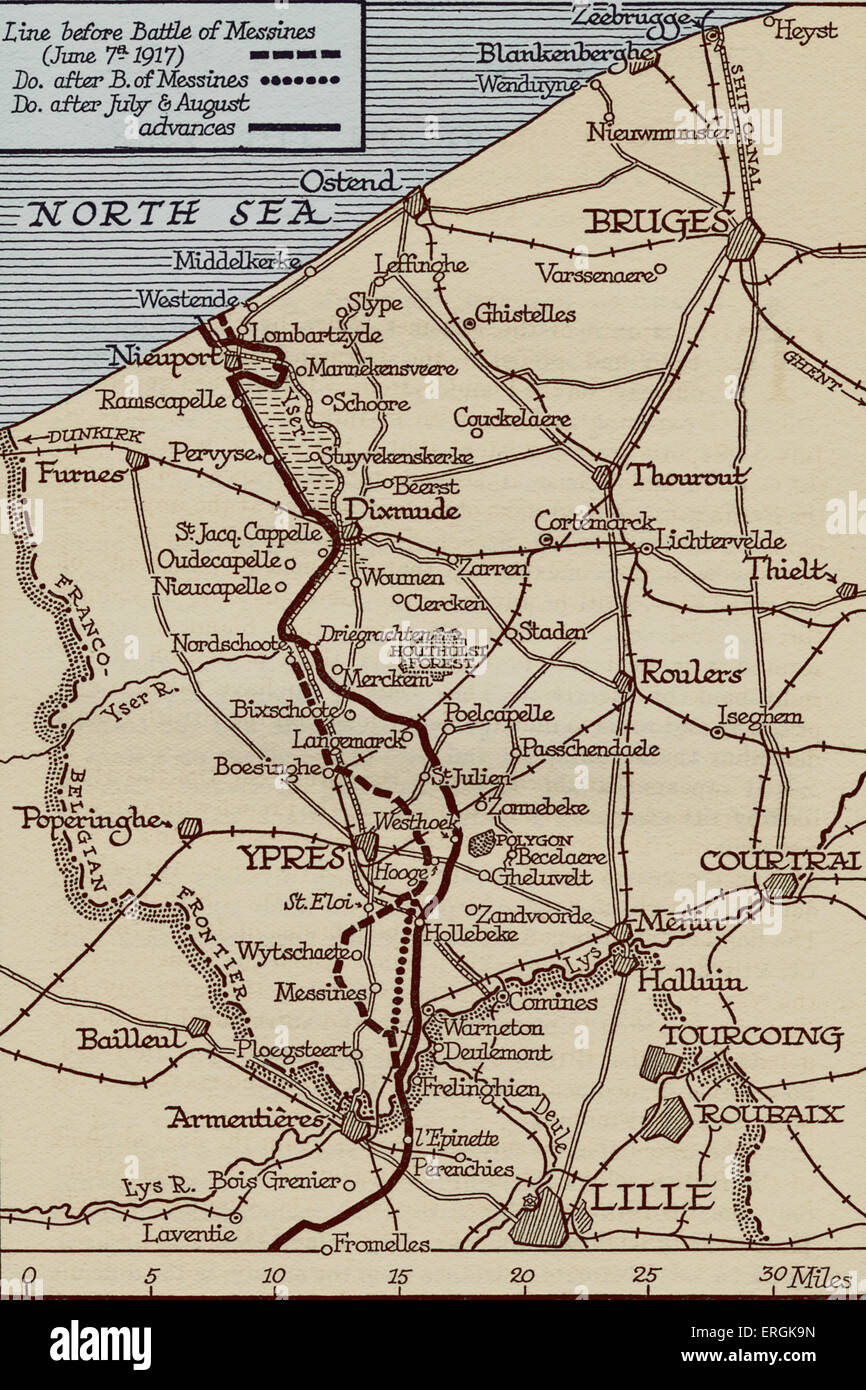 Map of the front lines in flanders belgium during world war 1 map of the front lines in flanders belgium during world war 1 july stock photo 83344961 alamy gumiabroncs Images