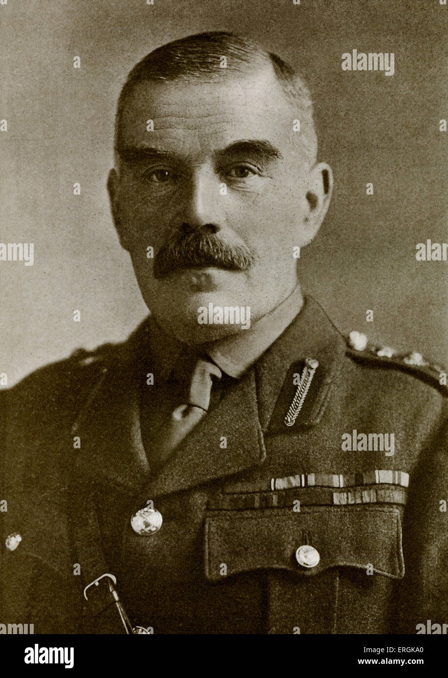 General Sir. William Robertson (1860-1933), Chief of the Imperial General Staff between 1916-1918. Stock Photo