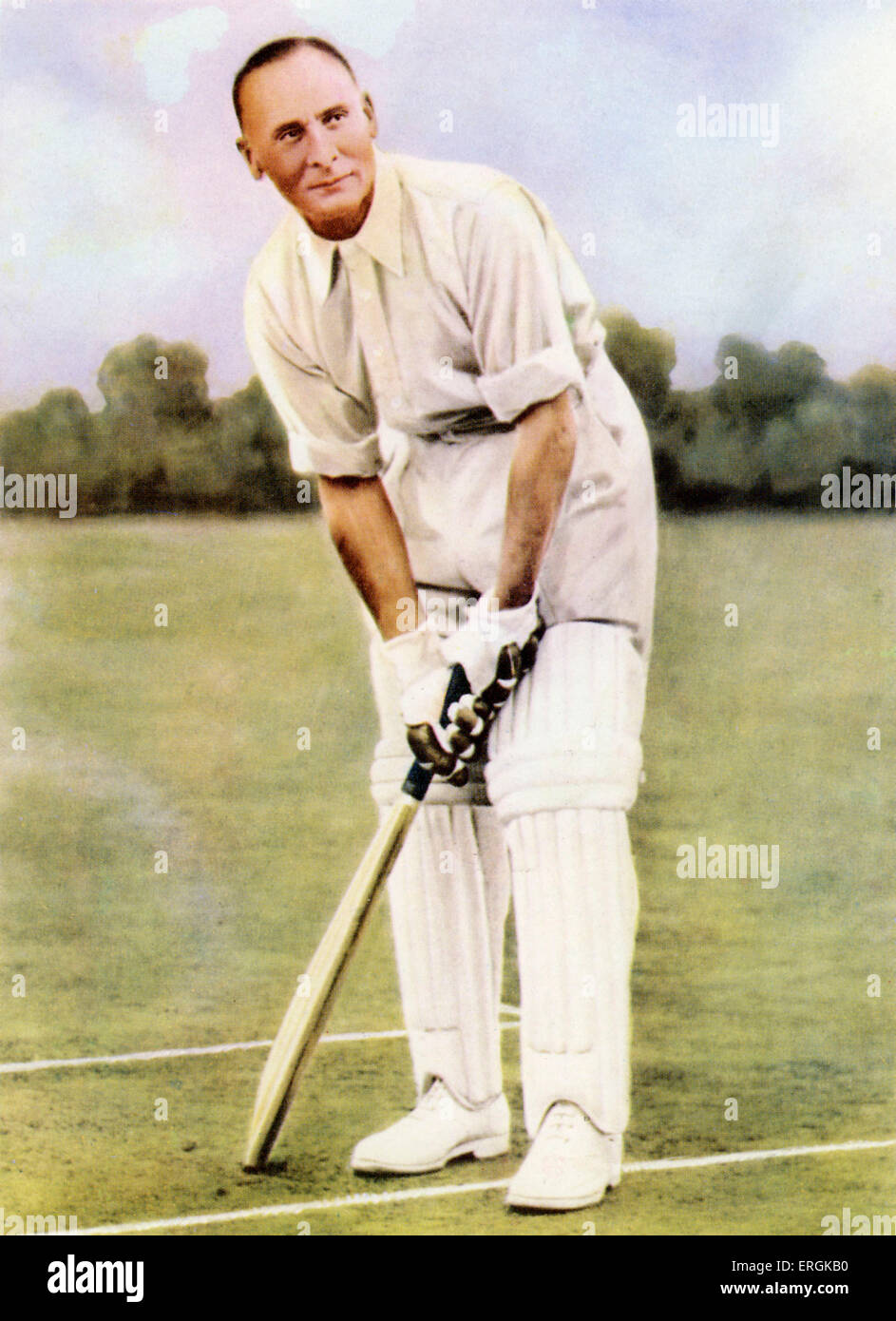 Jack Hobbs (1882-1963). John Berry Hobbs was an English cricketer for Surrey, known as 'The Master' for - Stock Image