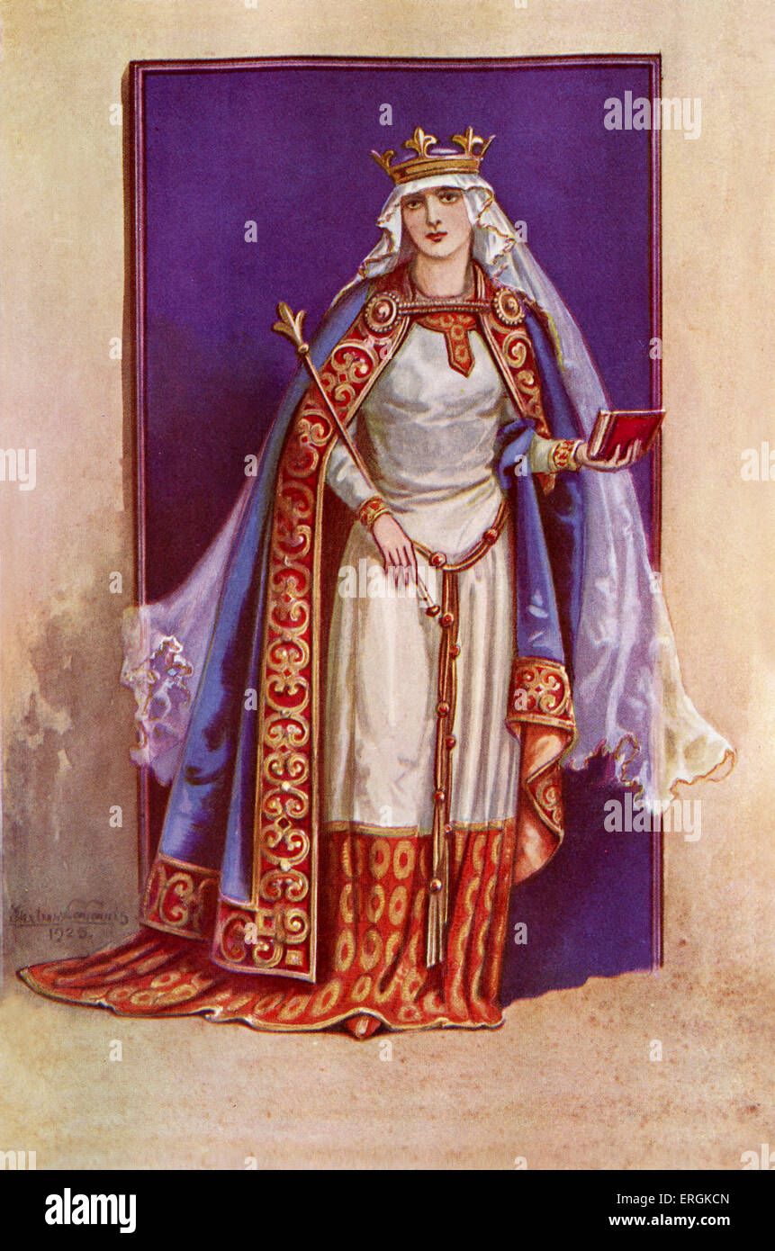 Matilda of Flanders (1031-1083) was the wife of William the Conquerer (1028-1087), and Royal Consort after the Norman - Stock Image