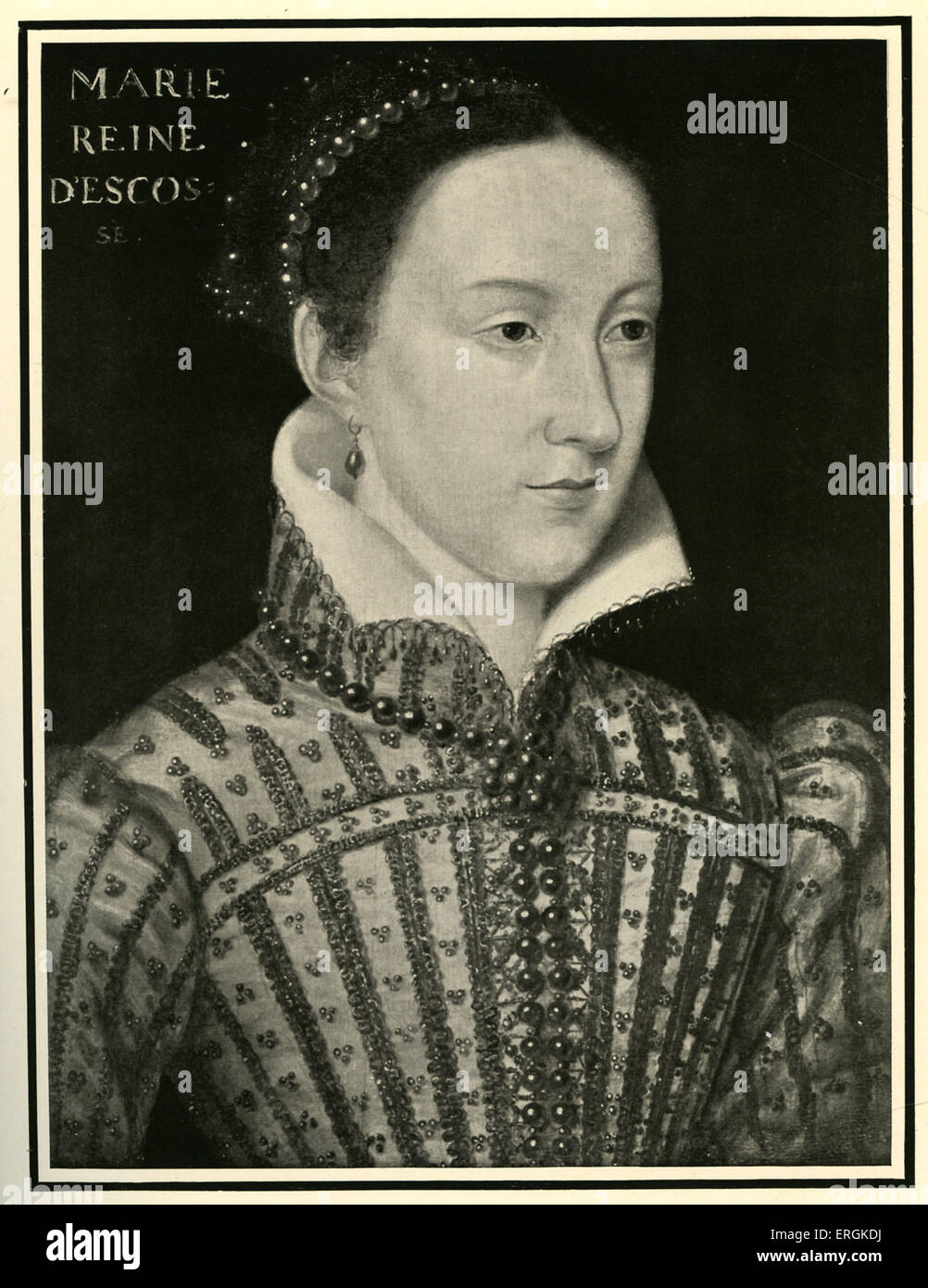 Mary, Queen of Scots (1542-1587), painted in 1500-1. Mary, a catholic and rival cousin to Elizabeth's protestant - Stock Image
