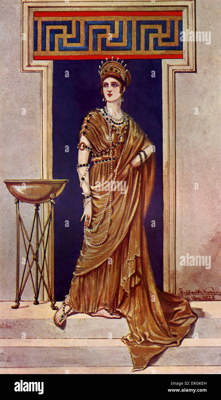 Roman Empress from second and third century AD.    Herbert Norris artist  died 1950 - may require copyright clearance - Stock Image