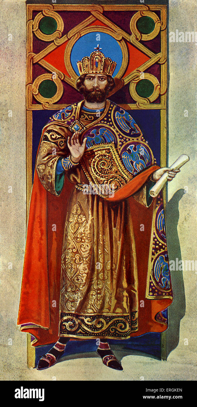 Byzantine Emperor of the eighth and ninth centuries AD. Herbert Norris artist  died 1950 - may require copyright - Stock Image